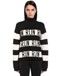 Run Stripes Wool Blend Knit Sweater