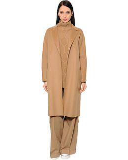Belted Virgin Wool Long Coat