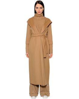 Belted Virgin Wool Long With Hood