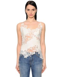 Lace & Wool Blend Top