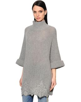 Lace Macramé & Wool Blend Knitwear