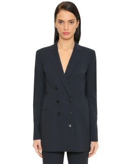Double Breasted Cool Wool Jacket
