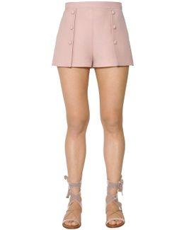 Wool & Silk Crepe Shorts