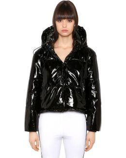 Quilted Vinyl Puffer Jacket