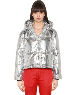 Quilted Lamé Puffer Jacket
