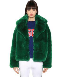 Oversized Faux Fox Jacket