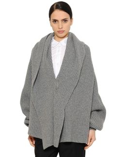Oversized Ribbed Wool Blend Sweater