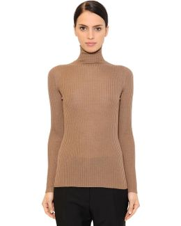 Ribbed Cashmere & Silk Blend Sweater