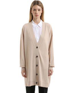 Oversized Cashmere Long Cardigan