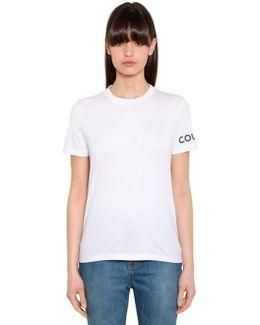 Logo Detail Print Cotton Jersey T-shirt