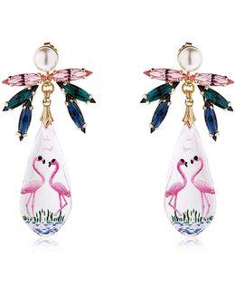 Pandora's Box Flamingo Earrings