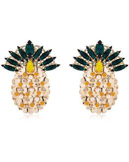 Pandora's Box Pineapple Earrings