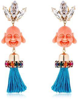 Pandora's Box Happy Buddha Earrings