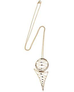 Brass Necklace W/ Garnets