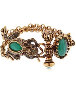 Desire Frog & Crown Bracelet