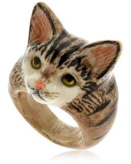 Grey Tabby Cat Ring