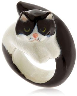 Black & White Persian Cat Ring