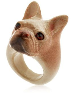 Beige French Bulldog Ring