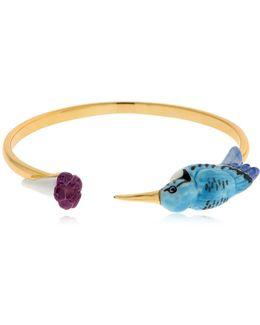 Hamming Bird & Flower Bracelet