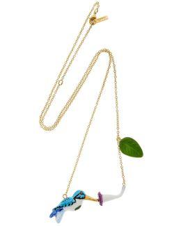 Hamming Bird & Flower Necklace