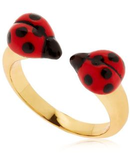 Ladybugs Face To Face Ring