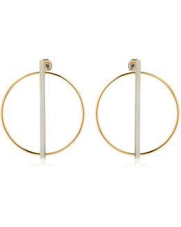 Rebel Circle & Bar Earrings