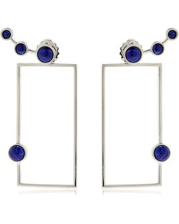 Lava Sodalite Geometric Earrings