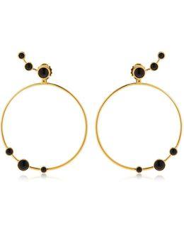 Lava Onyx Circle Earrings