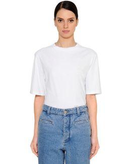 Oversized Cotton Jersey T-shirt W/ Logo