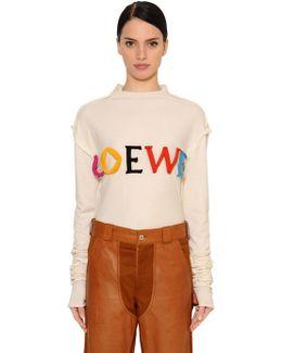 Oversized Logo Cotton & Silk T-shirt