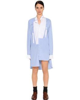 Asymmetrical Cotton Shirt Dress