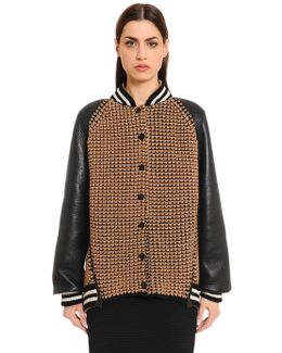 Cashmere & Leather Bomber