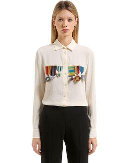 Embellished Silk Blend Shirt