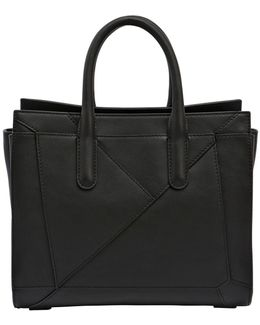 Small Leather Top Handle Tote Bag