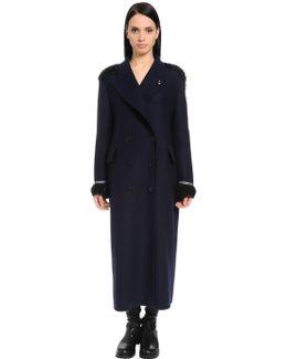 Oversized Embellished Wool Cloth Coat