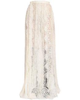 Plisse Chiffon & Lace Skirt