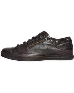 Nappa Leather Sneakers W/ Zip & Laces