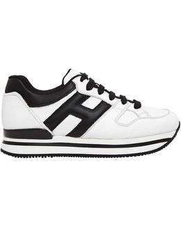 50mm H222 Active Leather Sneakers