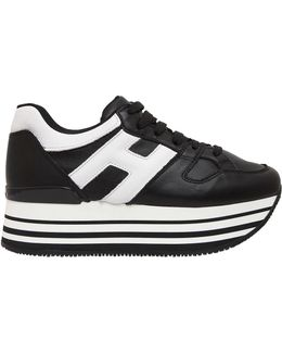 70mm Maxi 222 Leather Sneakers