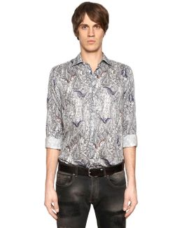 Bats & Paisley Cotton Shirting Shirt