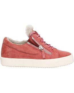 20mm Suede & Shearling Sneakers