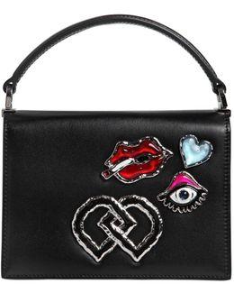 Medium Leather Bag W/ Appliqués