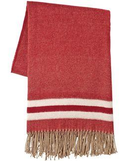 Oversized Fringed Wool Scarf