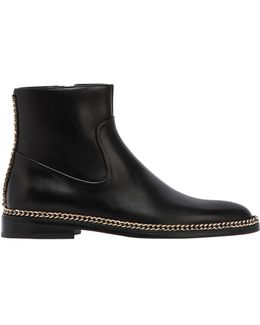 20mm Chained Leather Ankle Boots