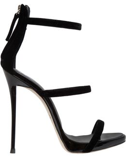 120mm Harmony Velvet Sandals