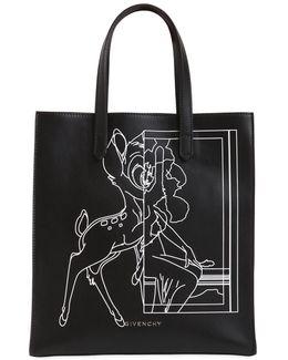 Stargate Bambi Printed Leather Tote Bag
