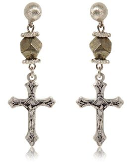 Crucifix Earrings