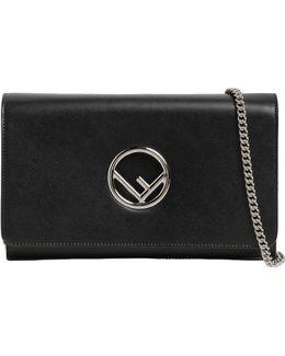 Logo Leather Clutch