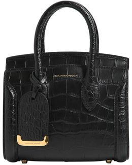 Small Heroine Croc Embossed Leather Bag