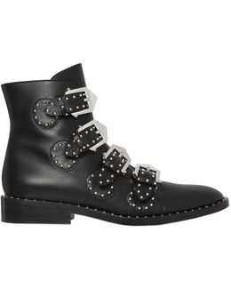 20mm Prue Studded Leather Ankle Boots